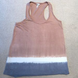 Splendid cotton knit racer back tank top size s